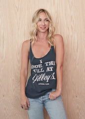 I Rode the Bull at Gilley's Racerback - Women's Tee Shirt - Midnight Rider