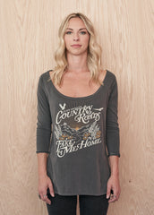 John Denver Country Roads Women's Raglan