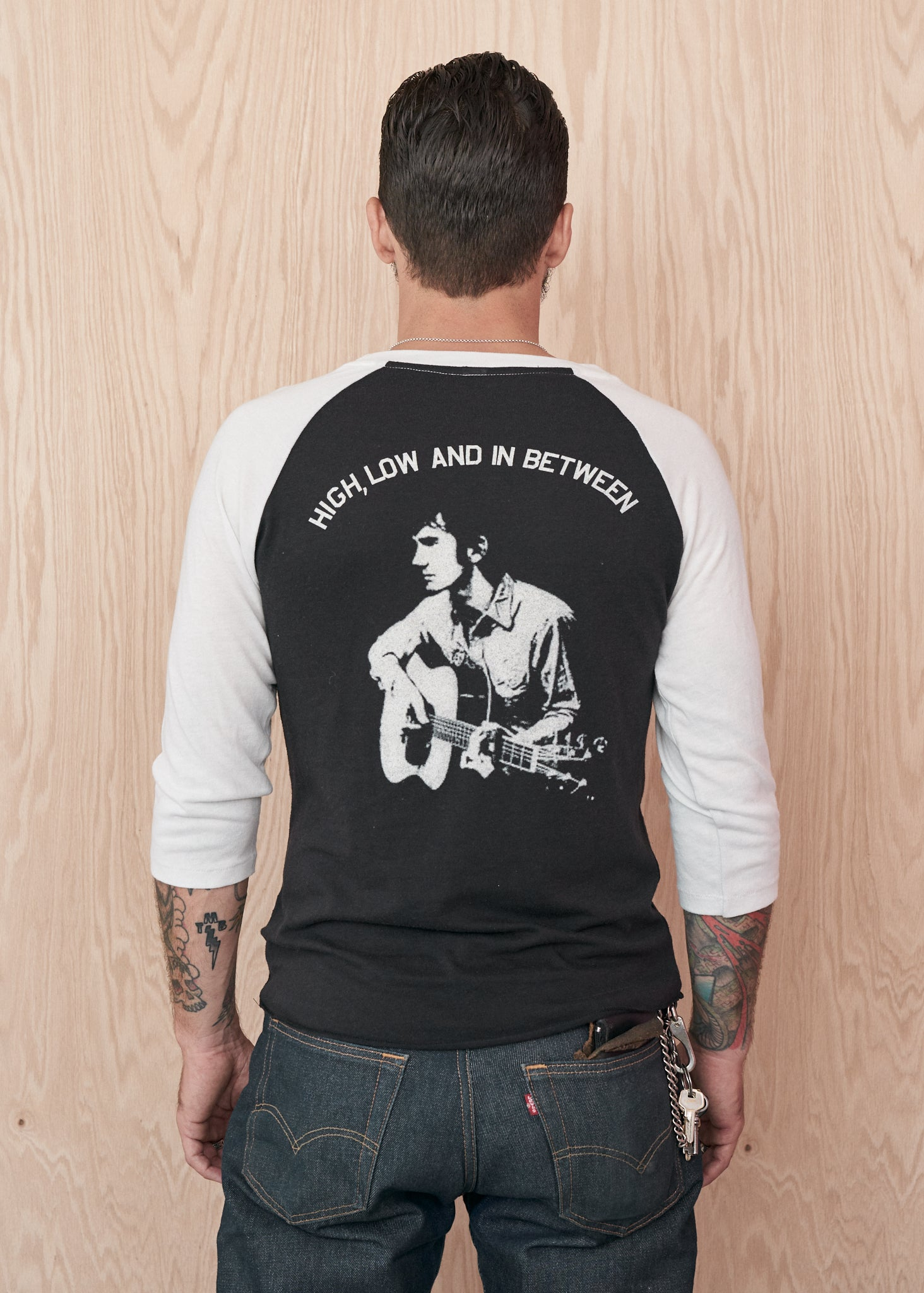 High Low and In-Between Townes Van Zandt Baseball Tee - Baseball Tee - Midnight Rider