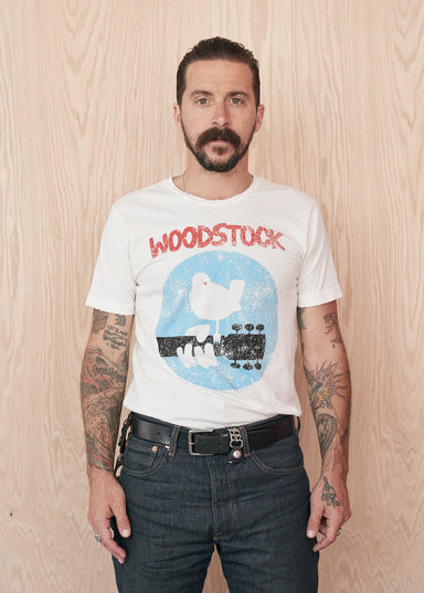 Woodstock Logo Men's Crewneck Tee Shirt - Men's Tee Shirt - Midnight Rider