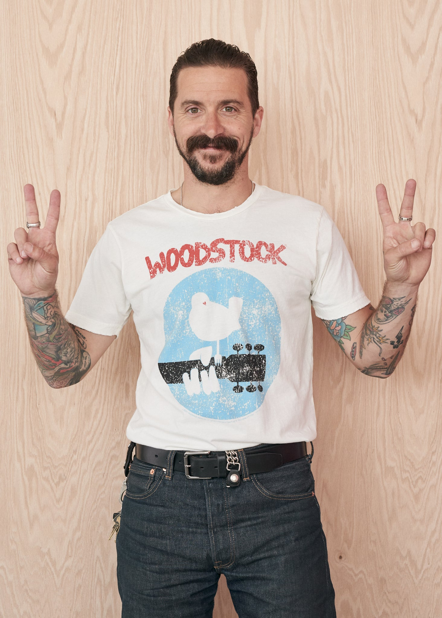 Woodstock Men's Crewneck Tee Shirt