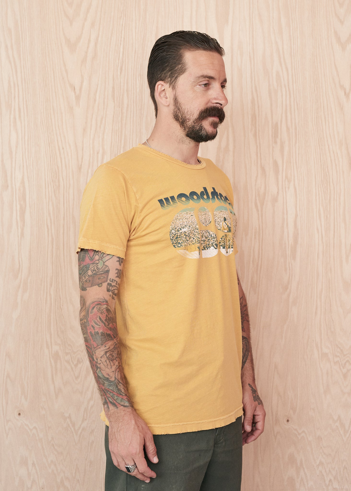 Woodstock '69 Photo Men's Tee -  - Midnight Rider
