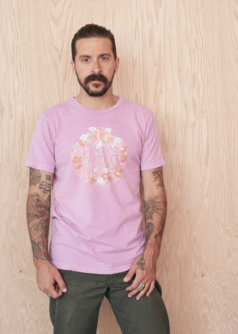 Flowers of One Garden Men's Crew Tee Shirt - Men's Tee Shirt - Midnight Rider