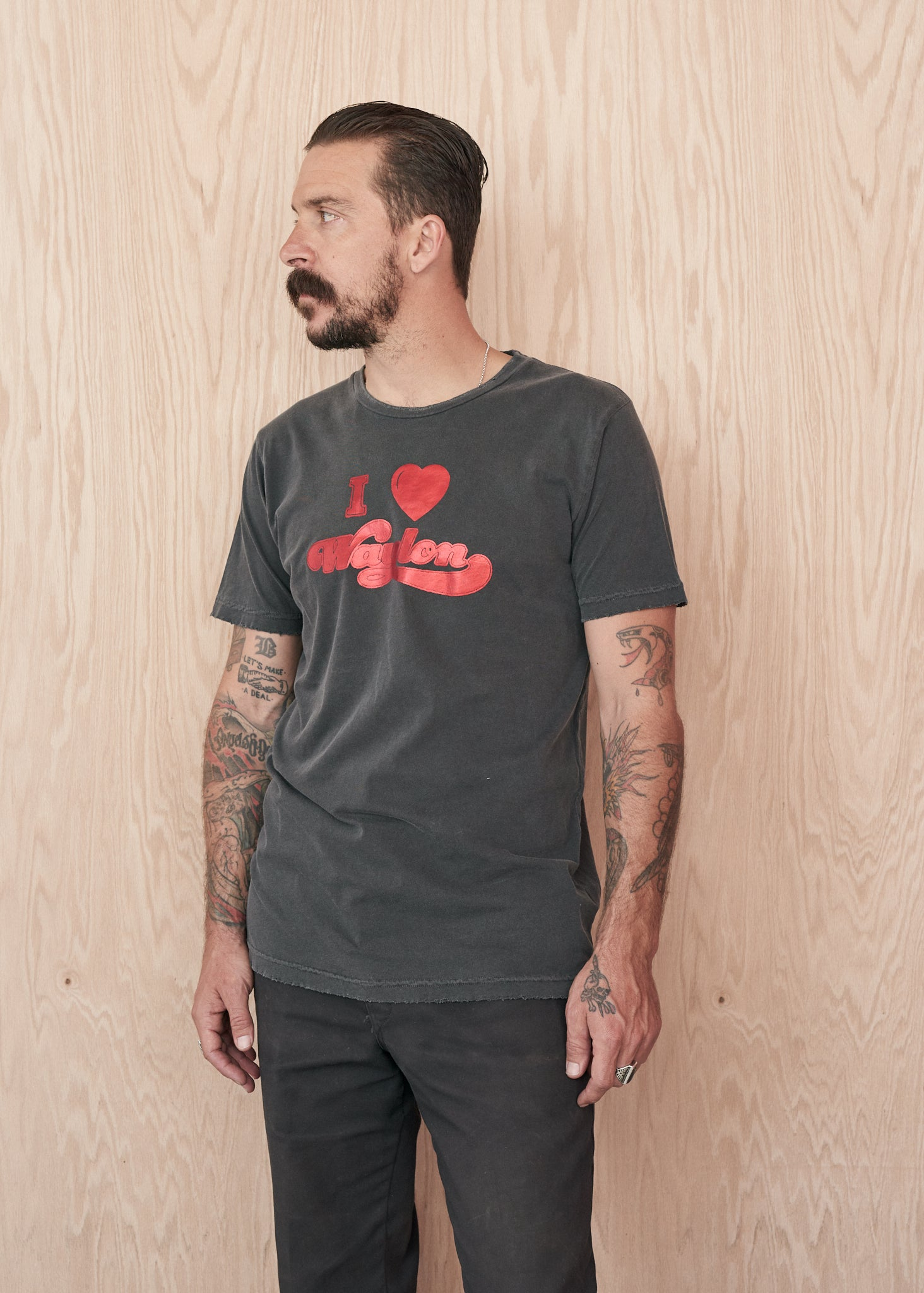 I Love Waylon Men's Tee Shirt - Men's Tee Shirt - Midnight Rider