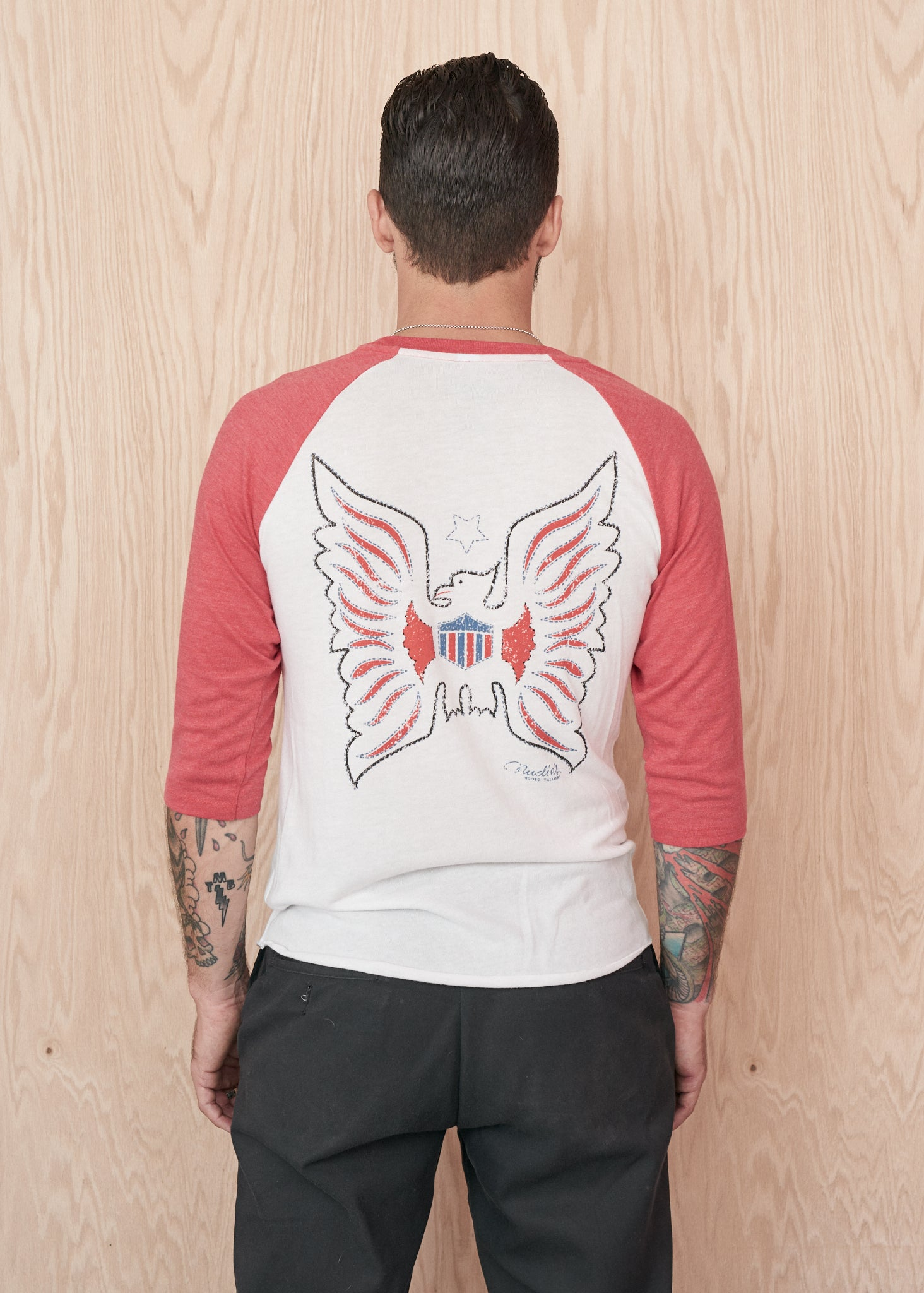 Nudie Firebird Baseball Tee - Baseball Tee - Midnight Rider