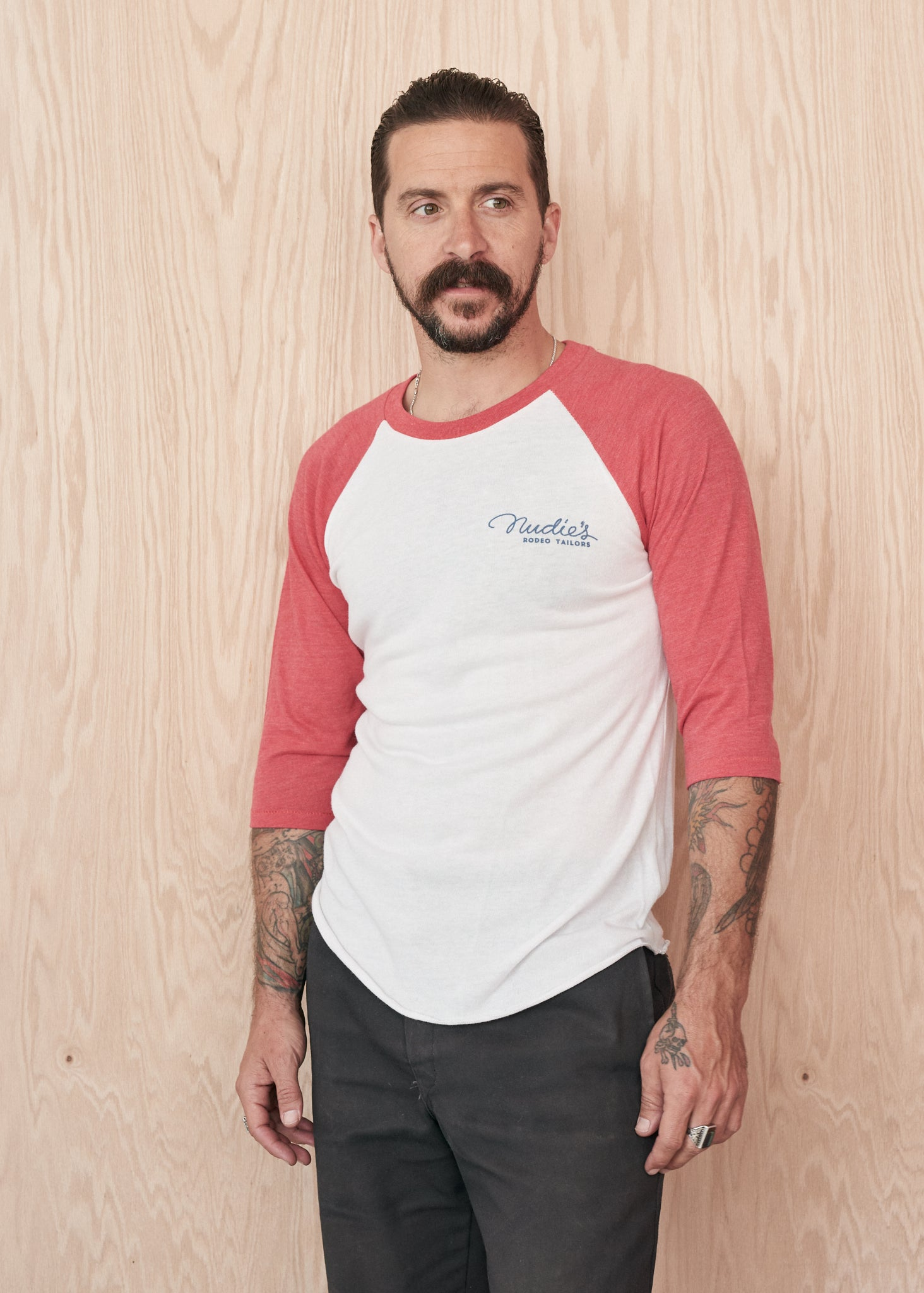 Nudie Firebird Baseball Tee