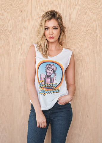 John Wayne One-Color Photo Women's Muscle Tee