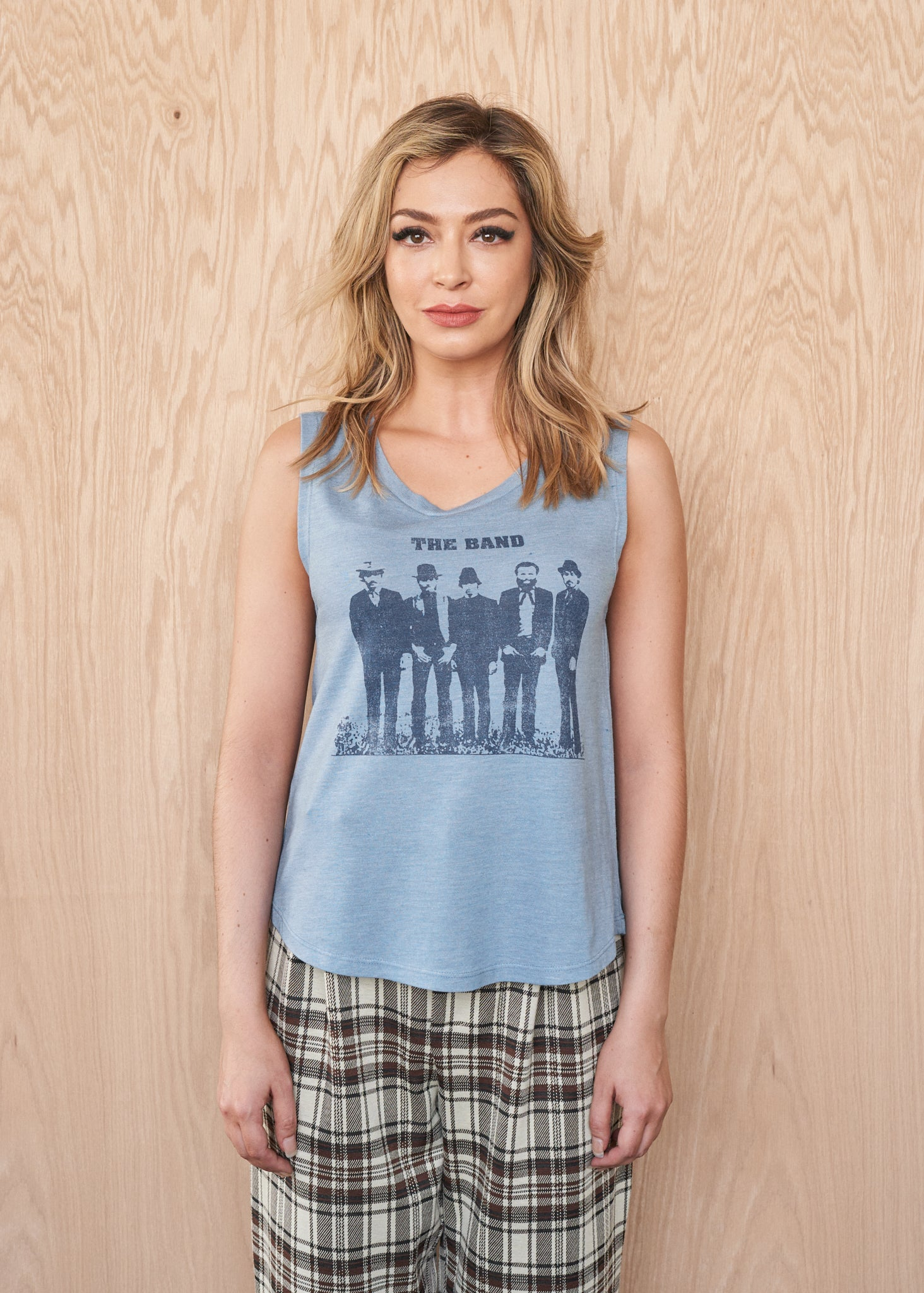 The Band Group Photo Muscle Tee - Women's Muscle Tee - Midnight Rider