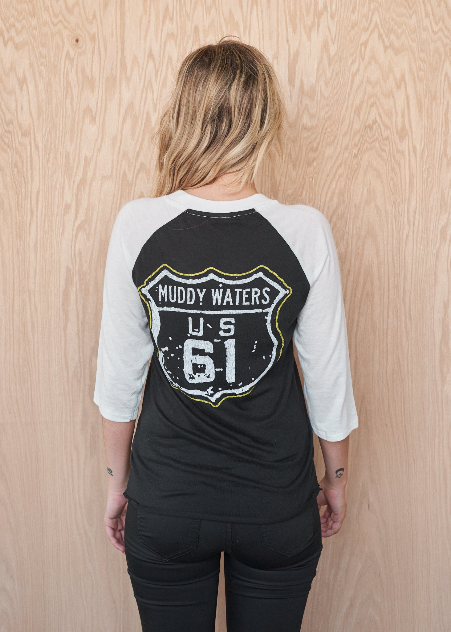 Muddy Waters Highway 61 Baseball Tee - Baseball Tee - Midnight Rider