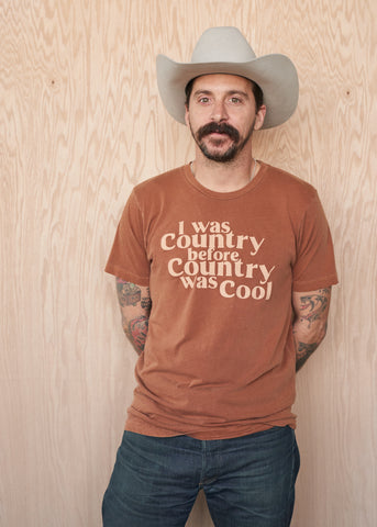 I Was Country Before Country Was Cool Men's T-Shirt - Men's Tee Shirt - Midnight Rider