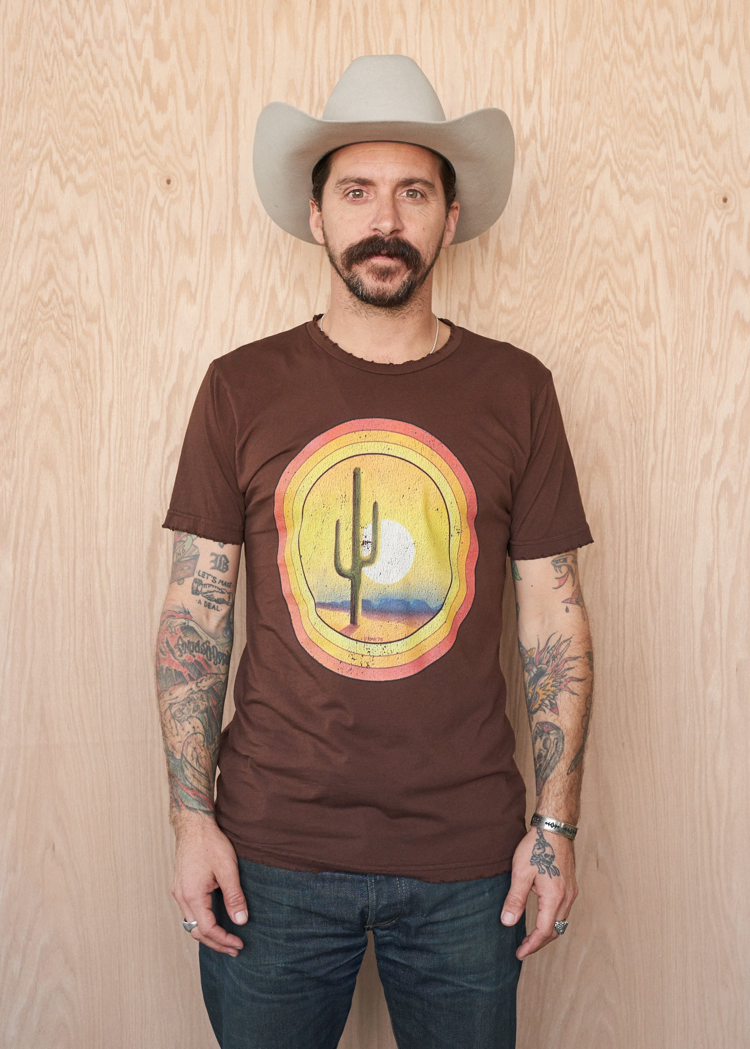 Desert Sunset Men's Crew - Men's Tee Shirt - Midnight Rider