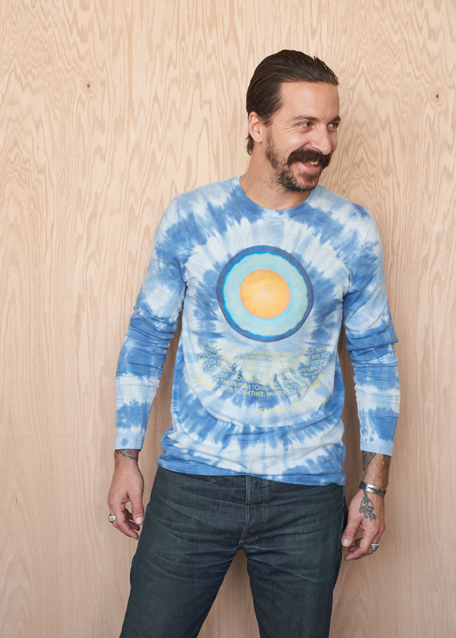 I Ching Woodstock Long-Sleeve T-Shirt - Men's Tee Shirt - Midnight Rider