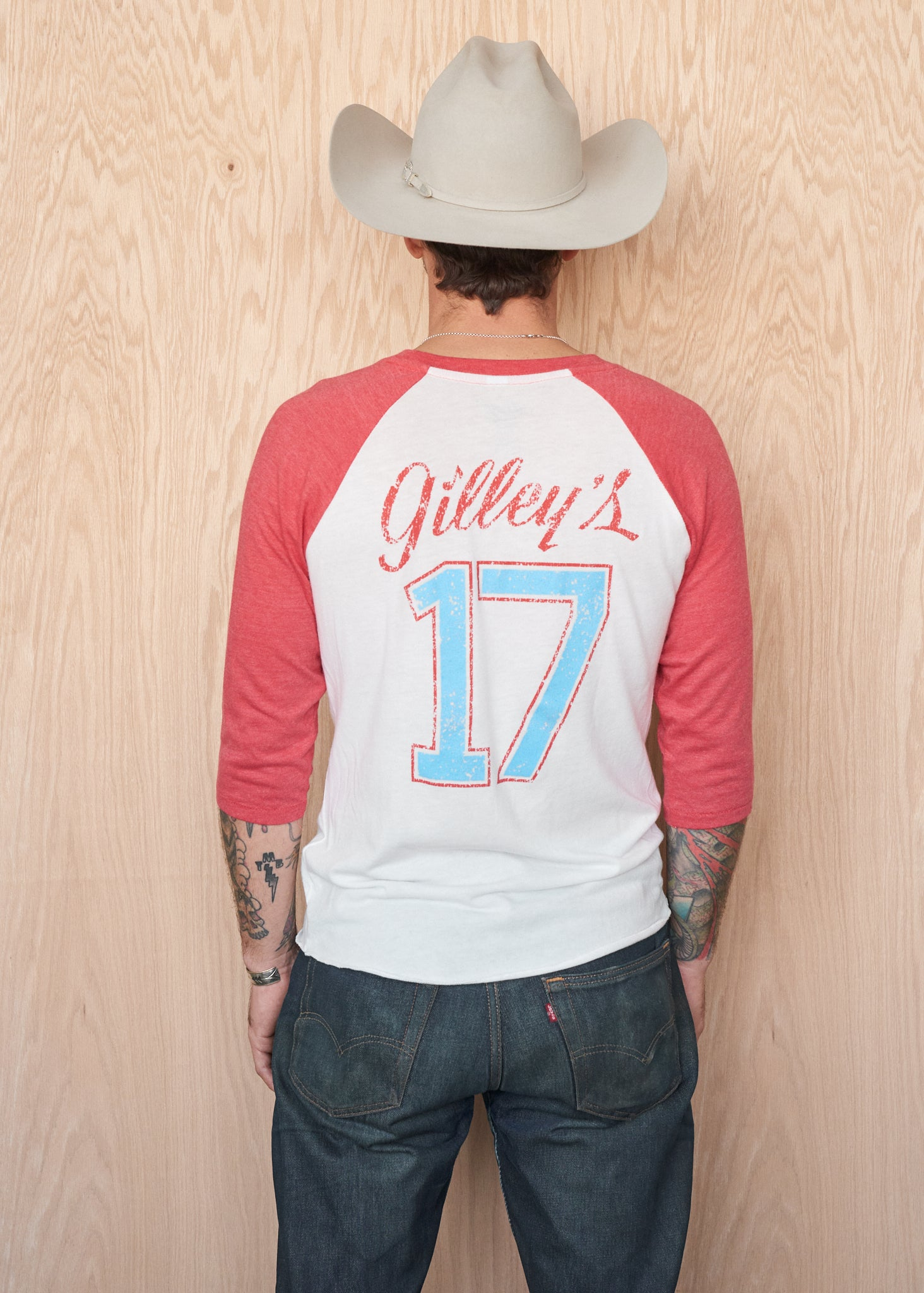 Gilley's #17 Baseball Tee - Baseball Tee - Midnight Rider