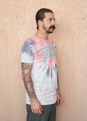 Cosmic Cowboy Men's Tie-Dyed Tee Shirt - Men's Tee Shirt - Midnight Rider