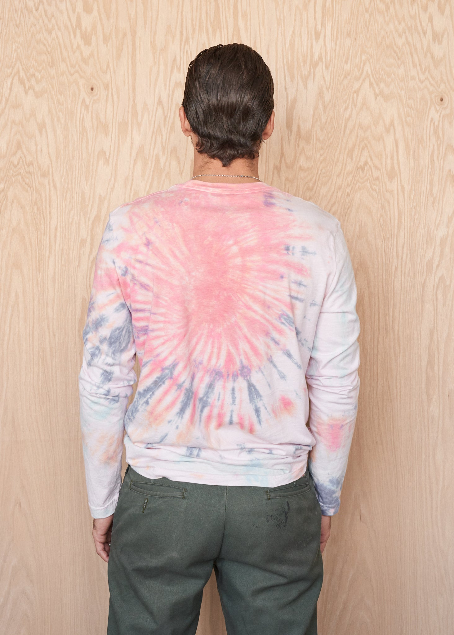 Cosmic Cowboy Tie-Dyed Long-Sleeve Tee Shirt - Men's Tee Shirt - Midnight Rider