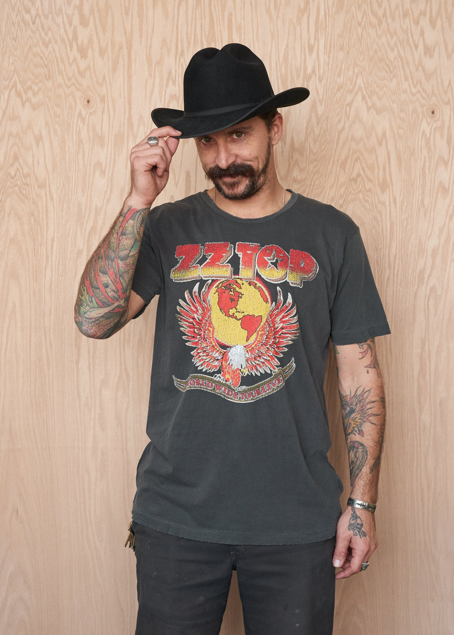 ZZ Top Eagle Bootleg Men's Crew - Men's Tee Shirt - Midnight Rider