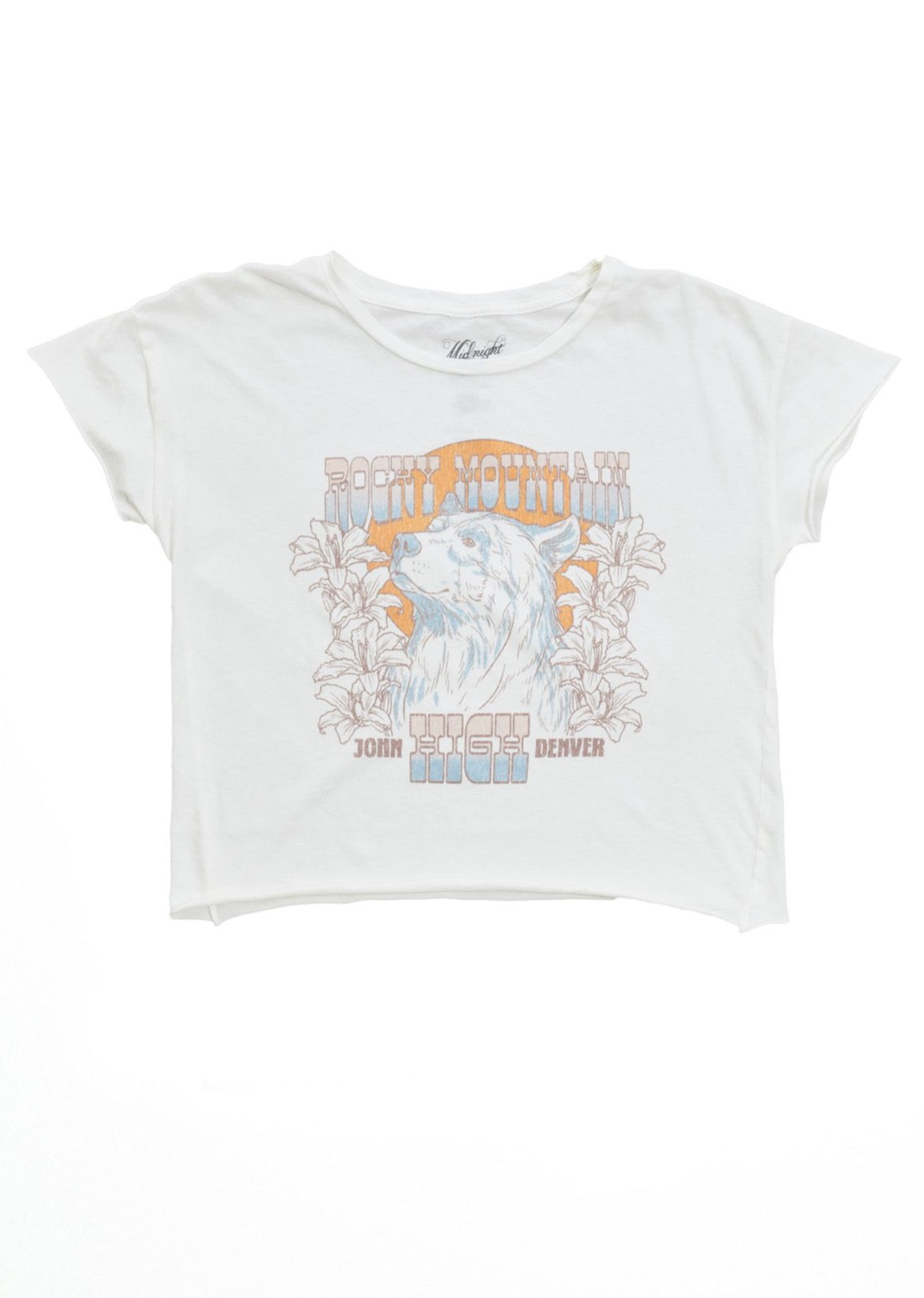 John Denver Rocky Mountain High Women's Cut-Off - Women's Tee Shirt - Midnight Rider