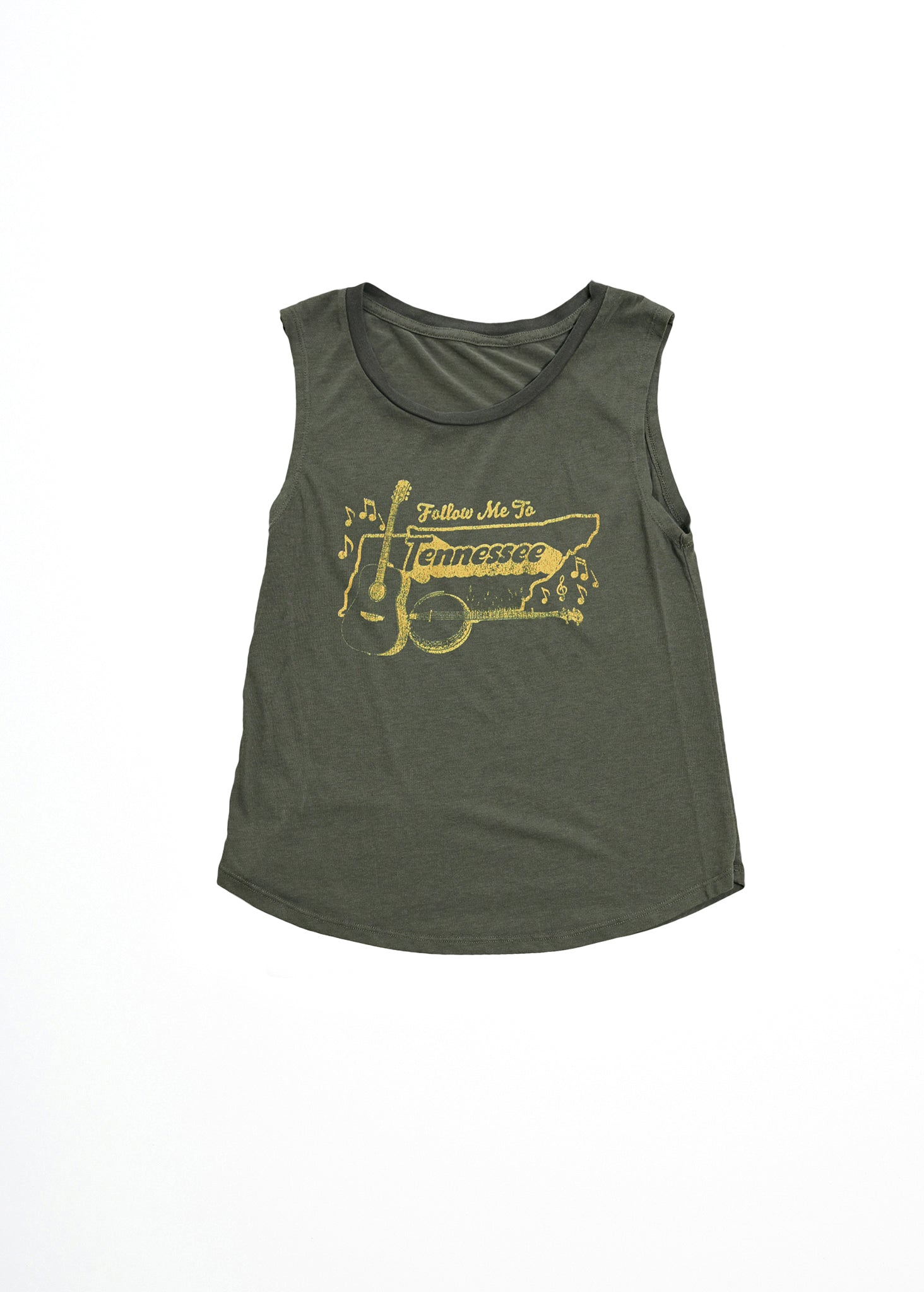 FOLLOW ME TO TENNESSEE MUSCLE TEE - Women's Tee Shirt - Midnight Rider