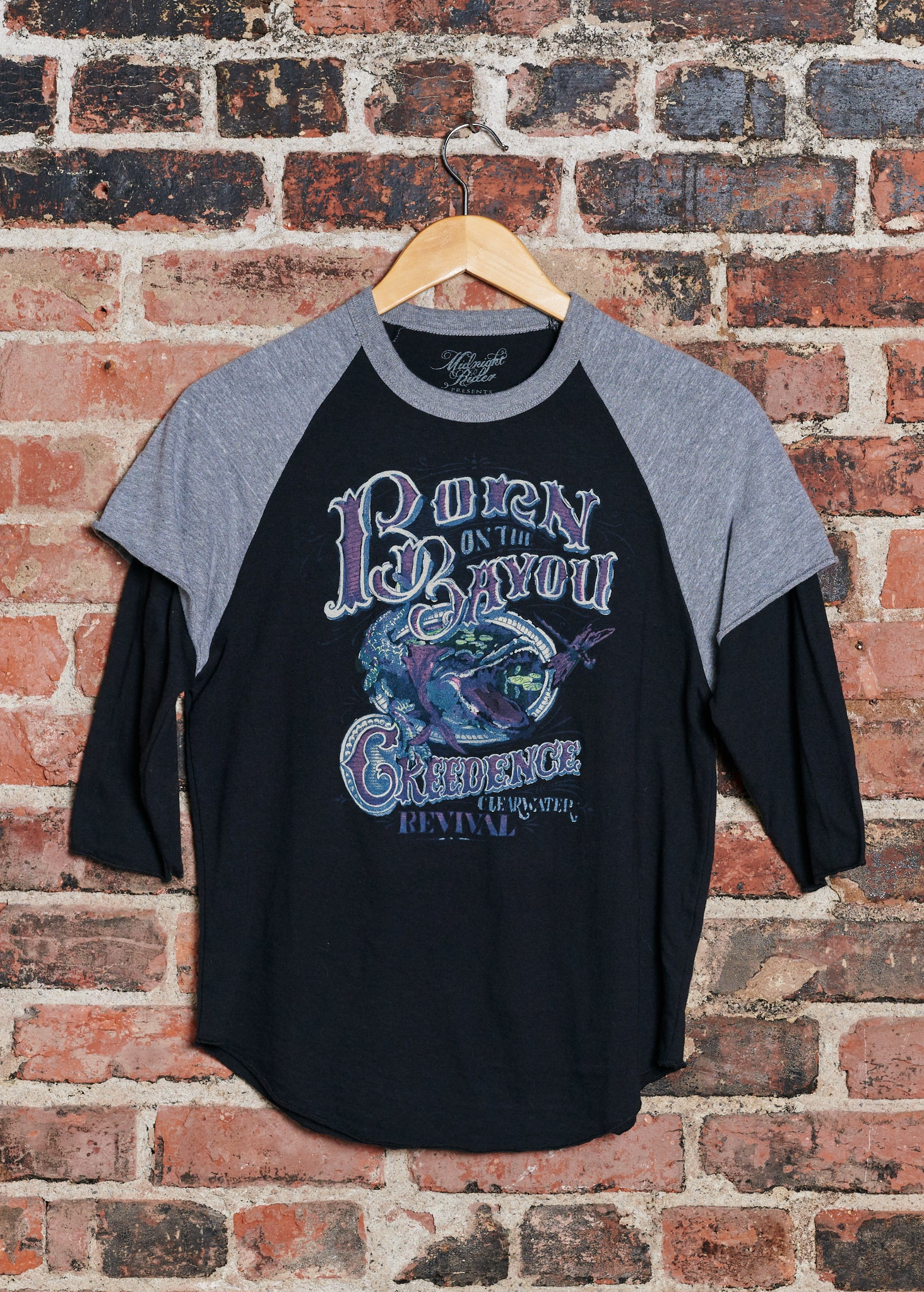 Born on the Bayou Women's Layered Baseball Tee