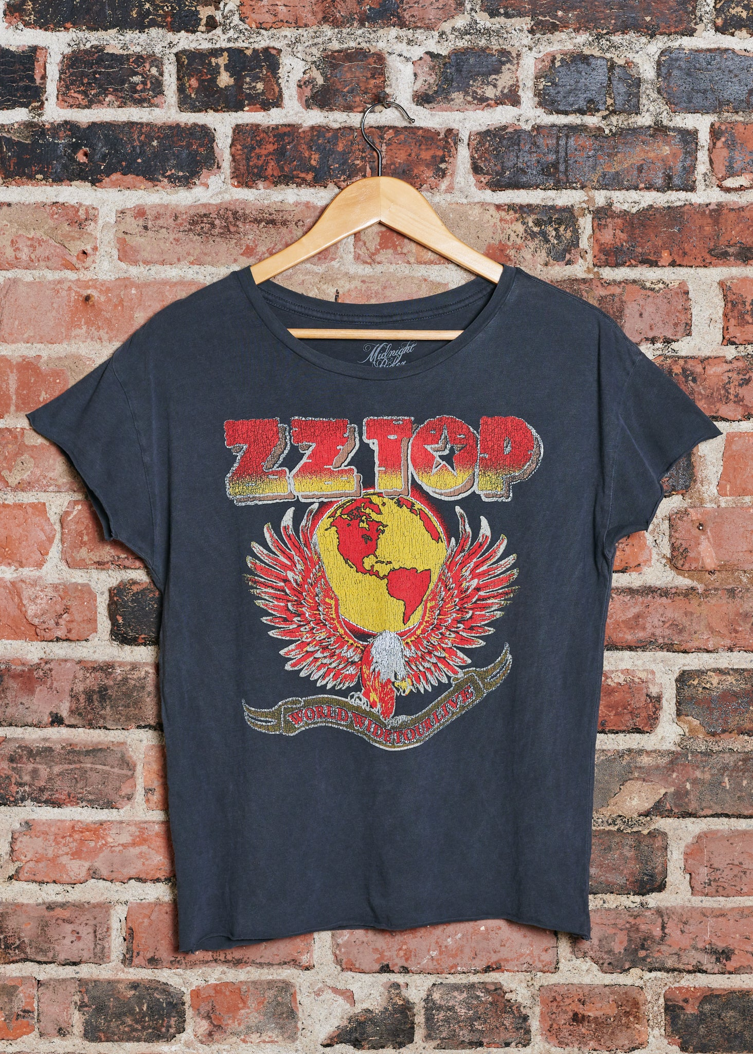 ZZ Top Eagle Bootleg Cut-Off Tee