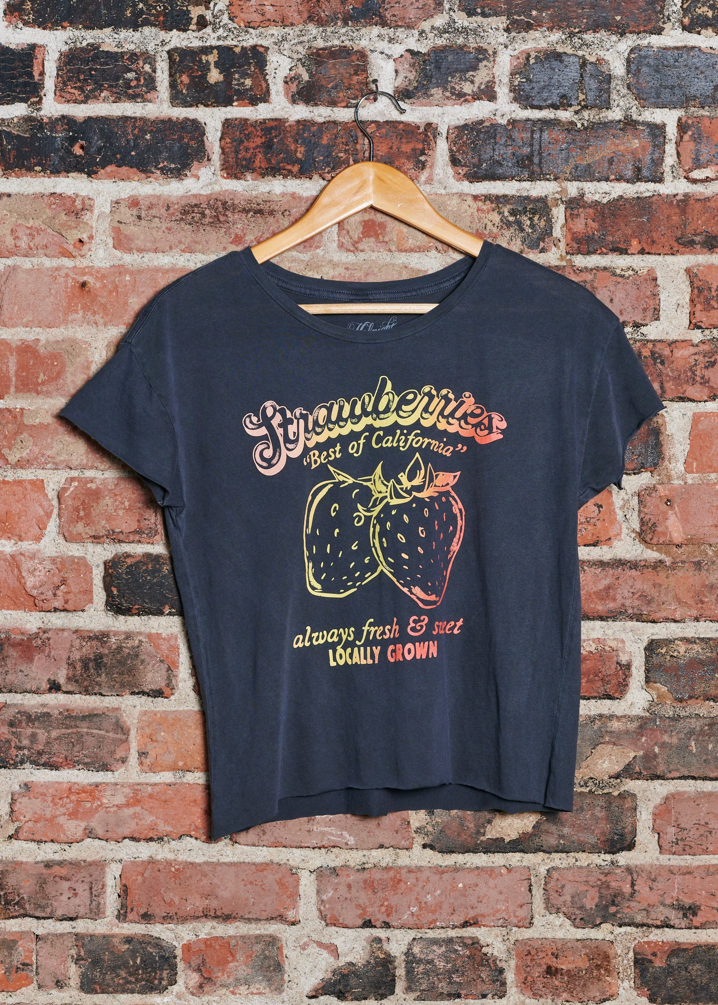 Strawberries Cut Off - Vintage Black