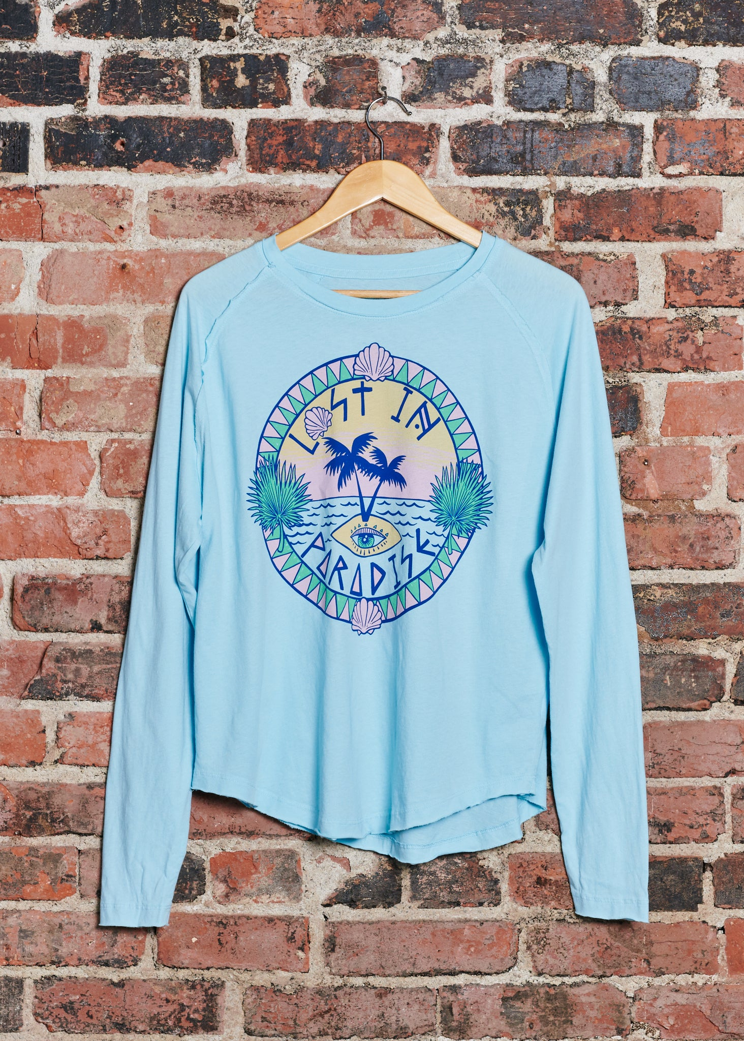 Lost In Paradise Tee - Sky Blue