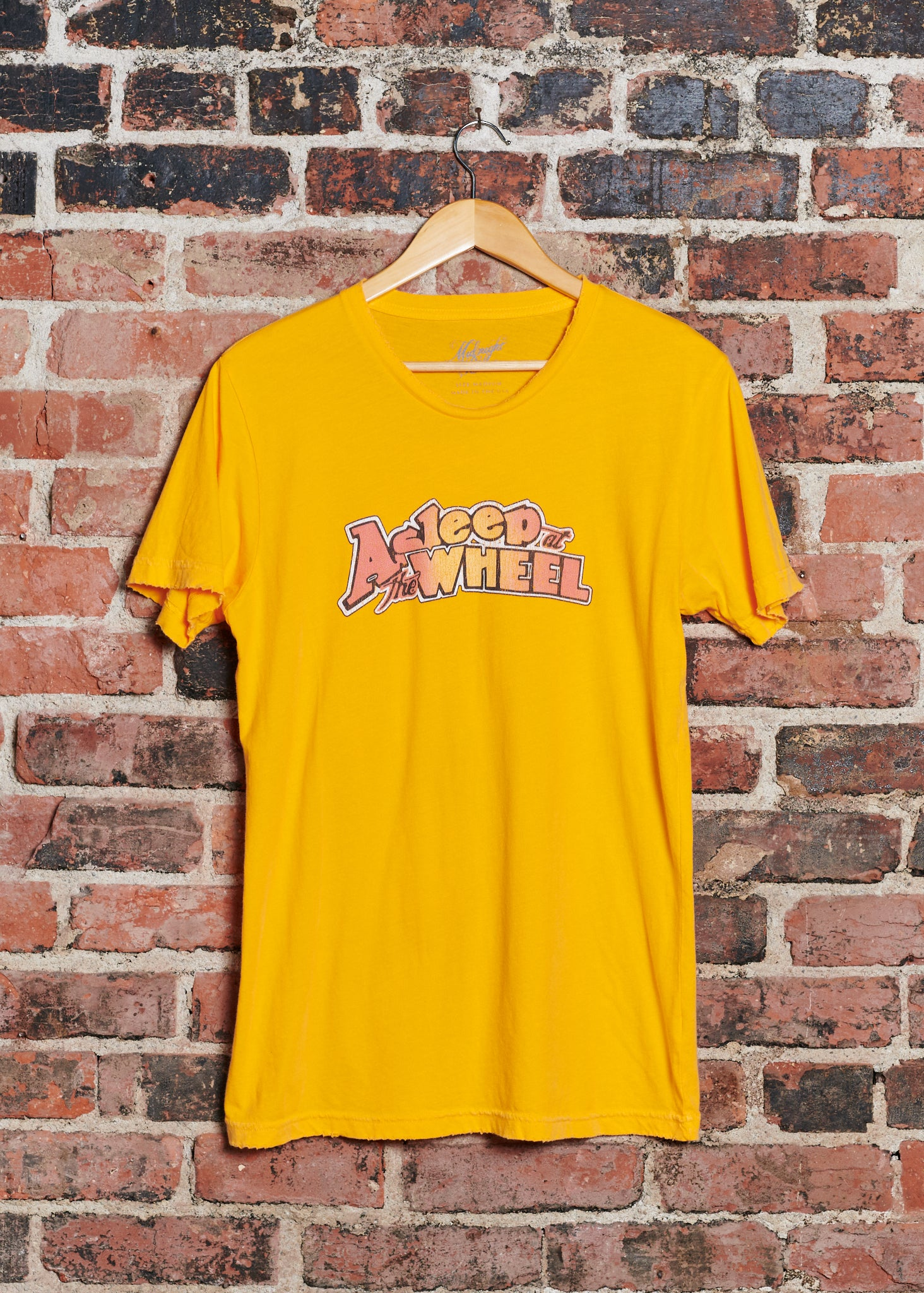Asleep At The Wheel Logo Unisex Tee - Saffron