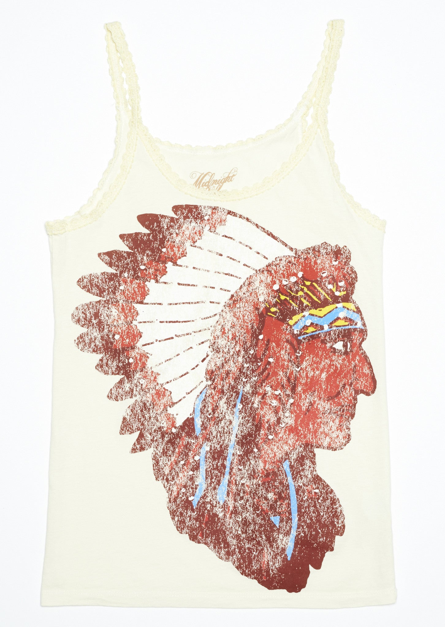 Nudie Chief Lace Tank - Dirty White