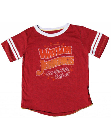 Nashville Rebel Varsity Kids Tee - Red - Kid's Tee - Midnight Rider