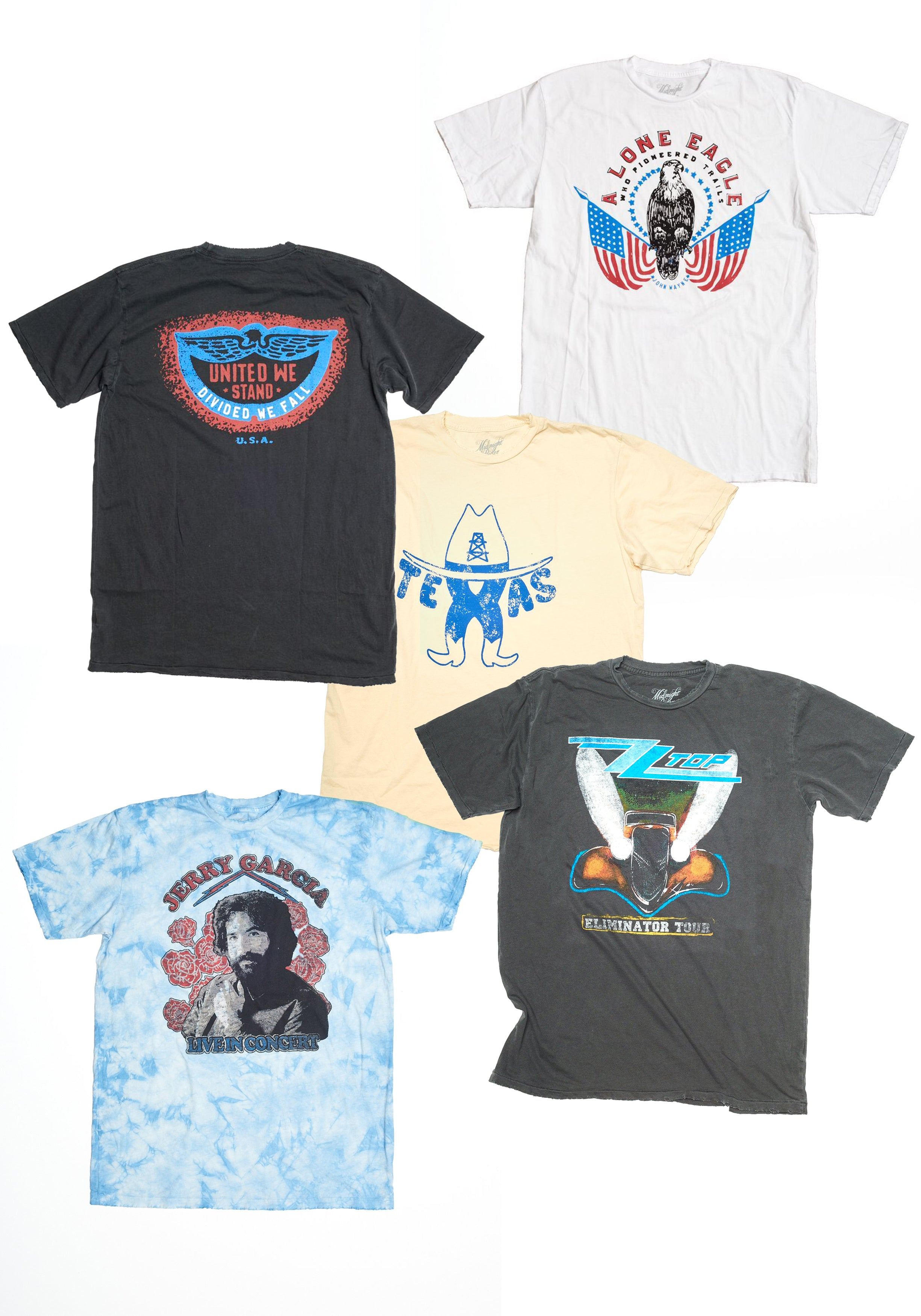 Midnight Rider Blind Bargain Bin - Men's Variety Pack - Men's Tee Shirt - Midnight Rider