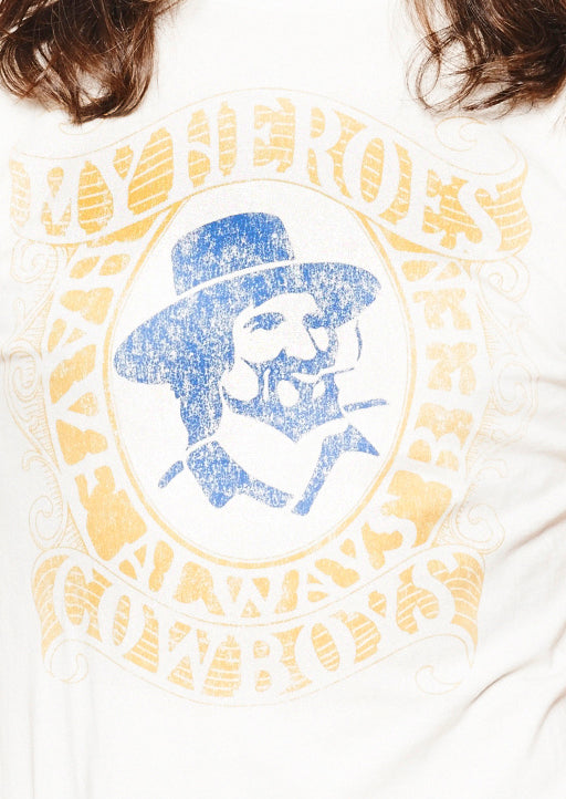 My Heroes Have Always Been Cowboys - Men's Crew - Dirty White
