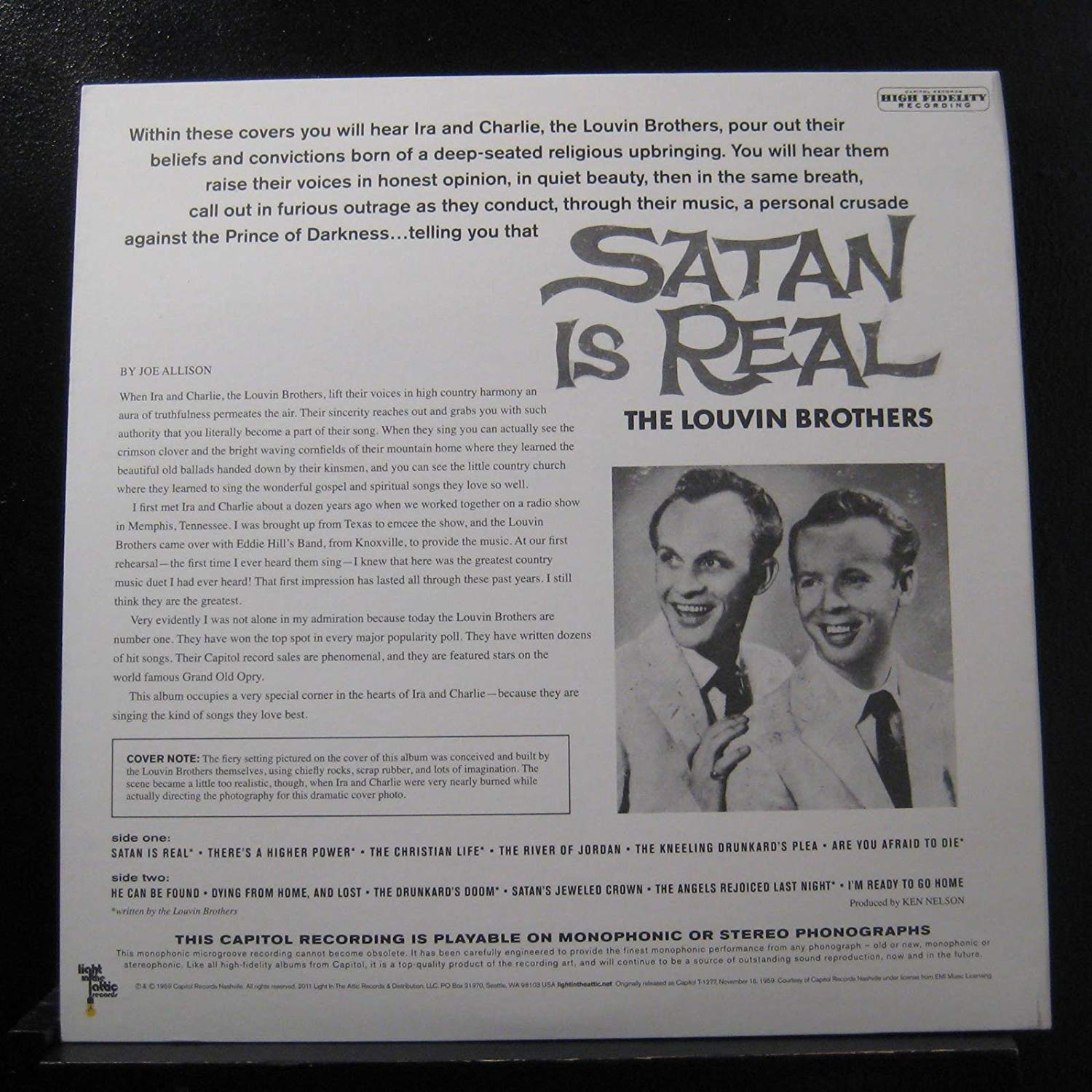 The Louvin Brothers - Satan is Real (LP) - Accessories - Midnight Rider
