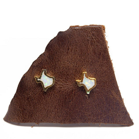 Mana Culture - Texas Fire Opal Studs