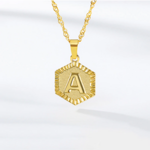 ONE TIME OFFER - 18k GOLD INITIAL LETTER NECKLACE