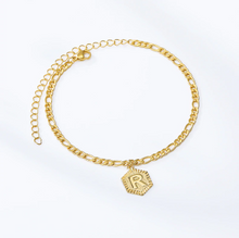 Load image into Gallery viewer, 50% OFF  EARLY SPRING SALE - 18k GOLD INITIAL LETTER ANKLET - Love Jewellery Official
