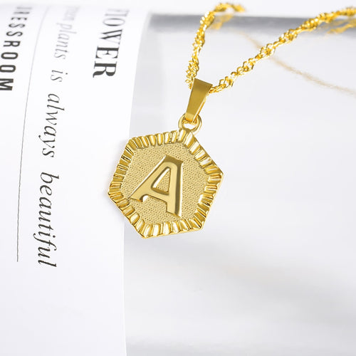 ONE TIME OFFER - 18k GOLD INITIAL LETTER NECKLACE - Love Jewellery Official