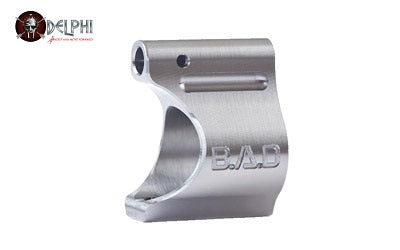 Battle Arms BAD-LGB-TI-625 LIGHTWEIGHT LOW PROFILE TITANIUM GAS BLOCK - RAW TI FINISH