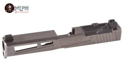 ZEV PrizeFighter RMR Abs. Co-wit in Ti Gray, Glock 17 Gen 1-3. Complete Slide