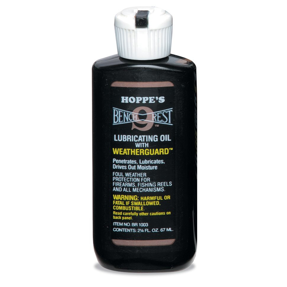 Hoppe's Bench Rest 9 Lubricating Oil With Weatherguard (2.25oz)