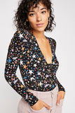 "<b>Free People</b> <br><font size = ""+1""> Seeing Stars Bodysuit</font>"