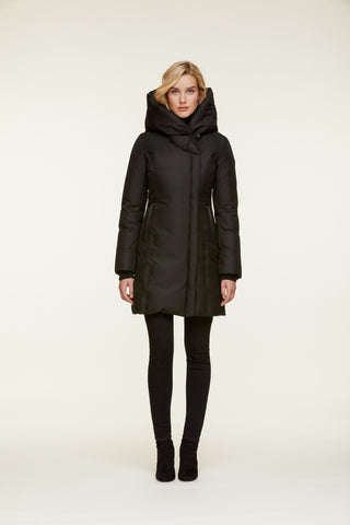 "<b>Soia & Kyo</b><br><font size=""+1"">Camelia Coat - Black</font>"