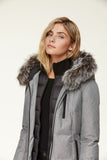"<b>Soia & Kyo</b><br><font size=""+1"">Christy Coat - Ash/Fox Fur</font>"