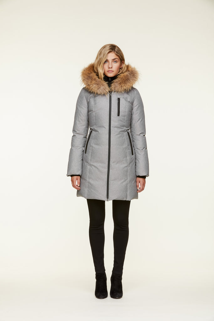 "<b>Soia & Kyo</b><br><font size=""+1"">Christy Coat - Ash</font>"