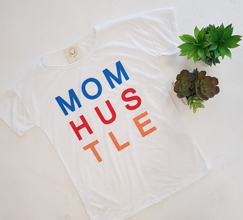 "</b><br><font size = ""+1"">MOM HUSTLE Tee</font>"