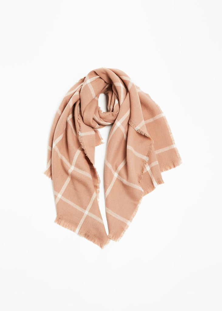 "<font size=""+1"">Grid Scarf - Blush</font>"