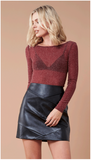 "</b>MinkPink<br><font size=""+1"">In The Night Top - Wine</font>"