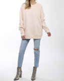 "</b> Brunette the Label<br><font size = ""+1"">Oversized Babes Varsity Logo - Peach</font>"