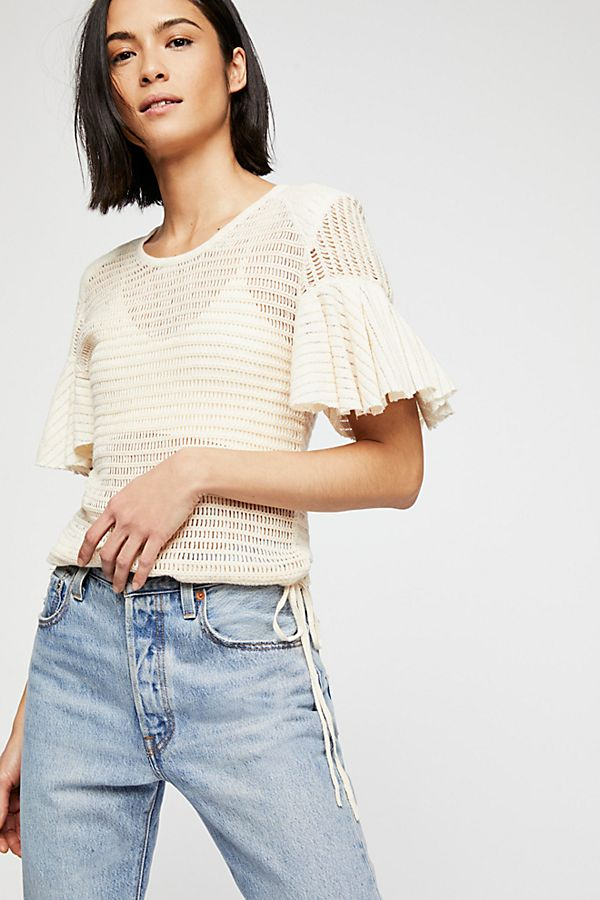 "<b>Free People</b> <br><font size = ""+1""> Sweater Tee - Cream</font>"