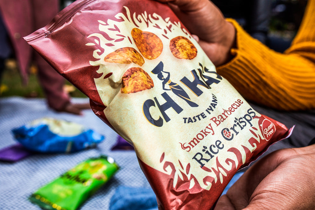 CHIKA'S Wholegrain Rice Crisps Mixed Box 16 Packs