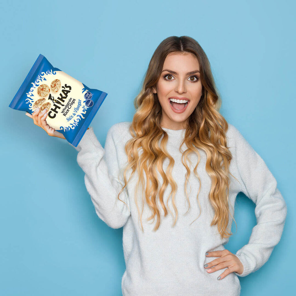 Salt & Vinegar Wholegrain Rice Crisps 25g